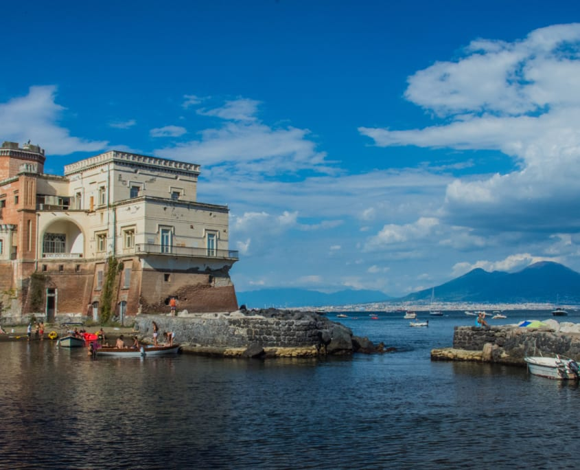 Mooie uitzichten op de baai van Napels