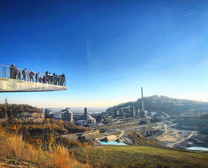 Fantastisch uitzicht op de ENCI-groeve