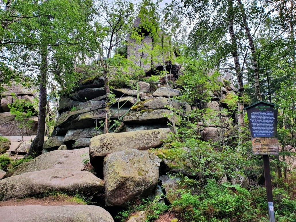 Ahrensklint in de Harz