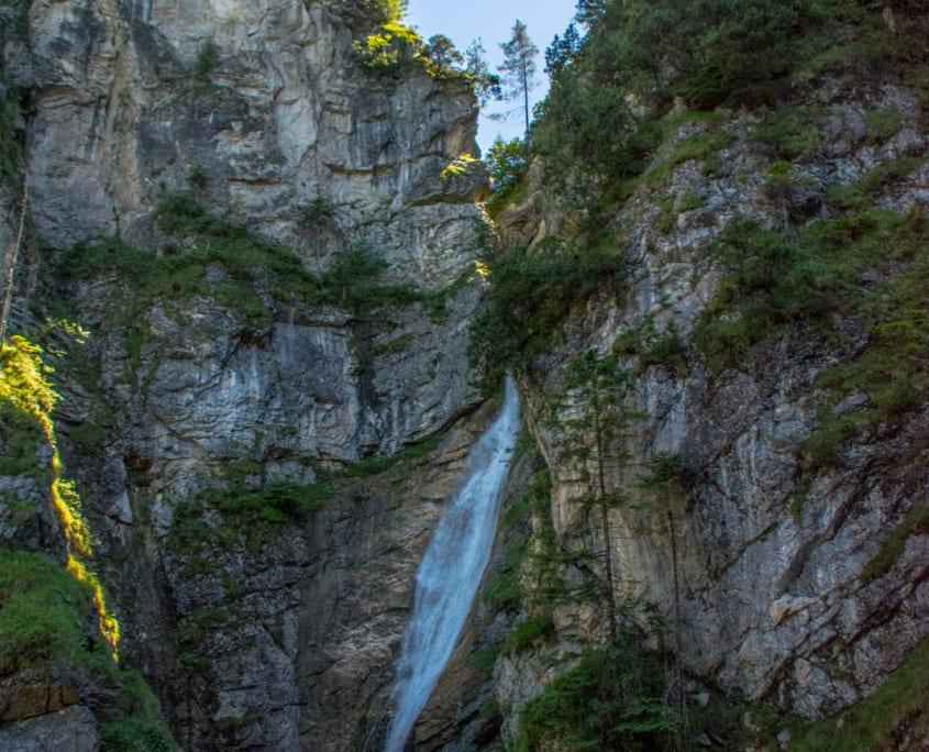 De waterval onder de Mariënbrucke