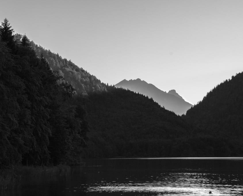Zonsondergang bij de Alpsee