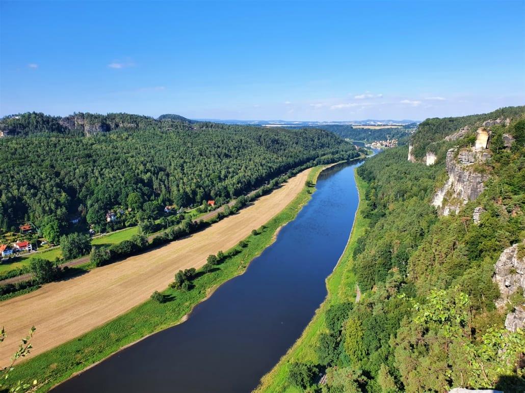 Elbe in de Sächsische Schweiz