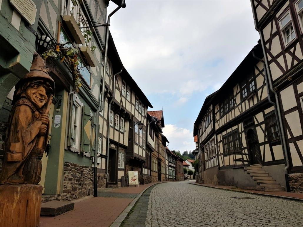 Heks en vakwerk in de Harz