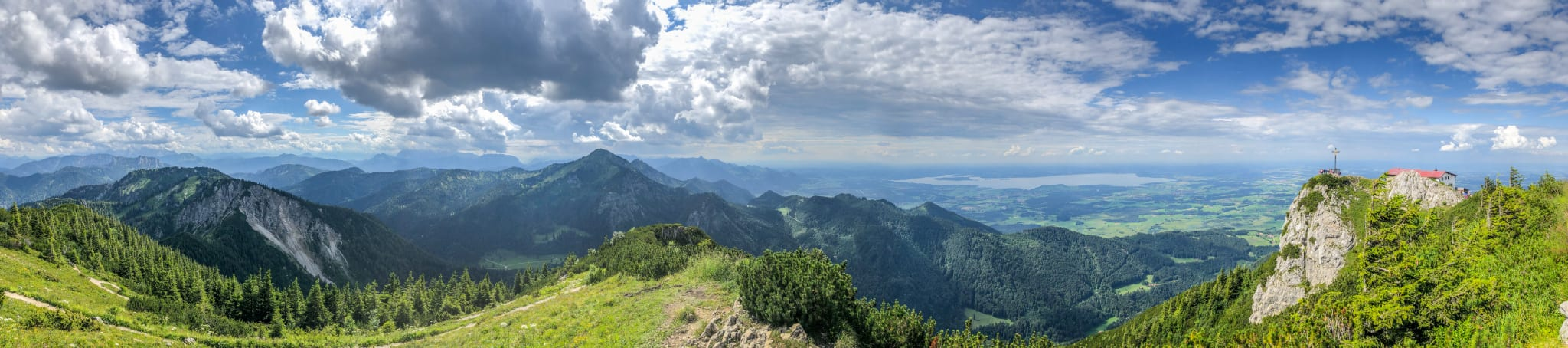 Panoramisch 360º uitzicht over Beieren