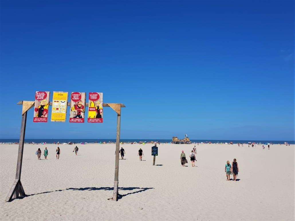 Stranddrukte op Schiermonnikoog