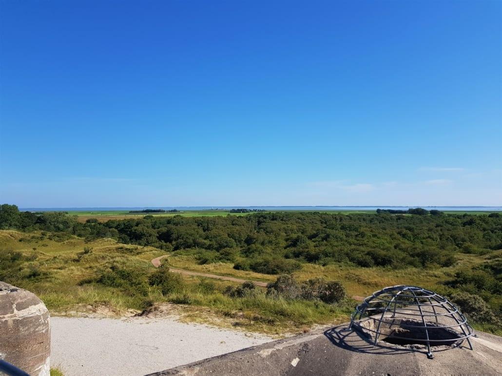 Uitzicht vanaf Bunker Wassermann op Schiermonnikoog