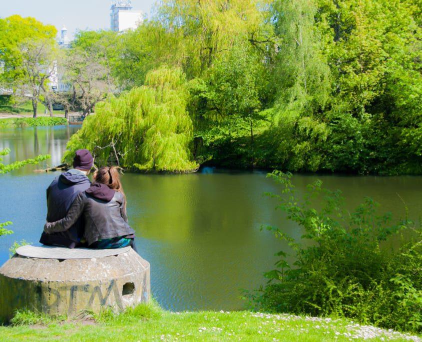 Liefde in de stadsparken van Kopenhagen: het Ørstedsparken