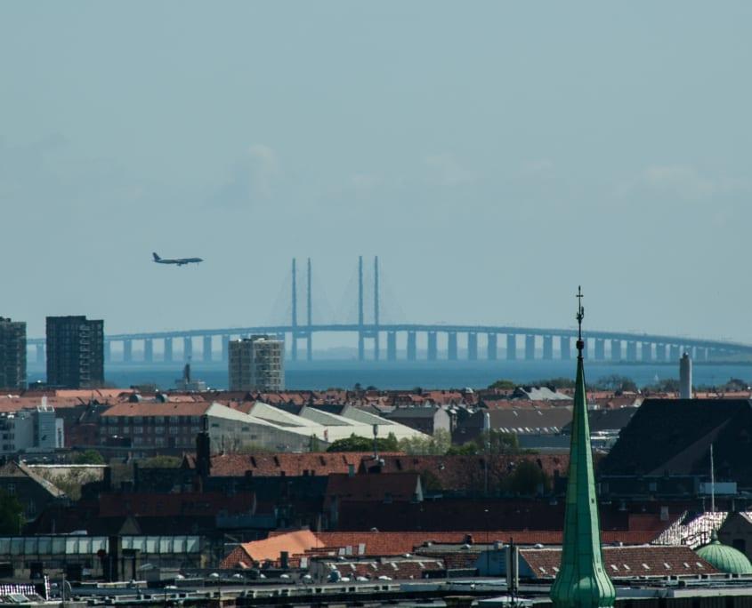 Uitzicht over Kopenhagen boven de Rundtaarn