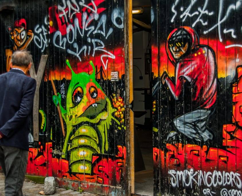 Eén van de toeristenclichés van Kopenhagen: Christiania