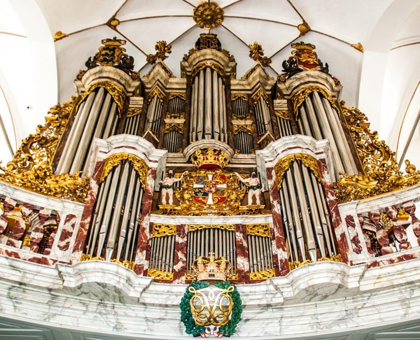 Vol op het orgel in de Trinitatiskirke