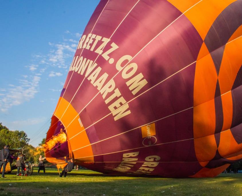 De ballonvaart kan bijna beginnen.