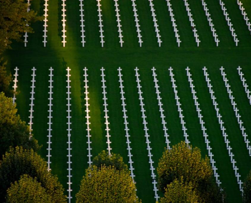 Het Amerikaans kerkhof van Margraten.