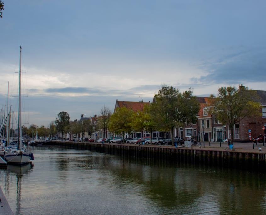 Harlingen, de grootste haven van Friesland.