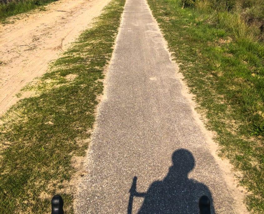 Mooi uitzicht over de hei vanaf je racefiets