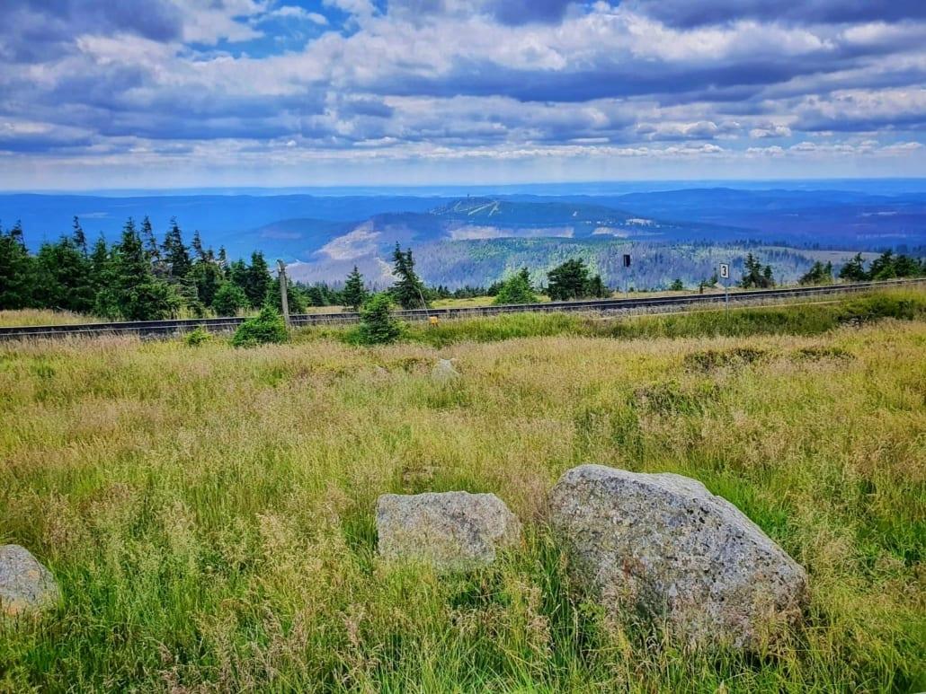 Uitzicht vanaf de Brocken in de Harz anno 2020