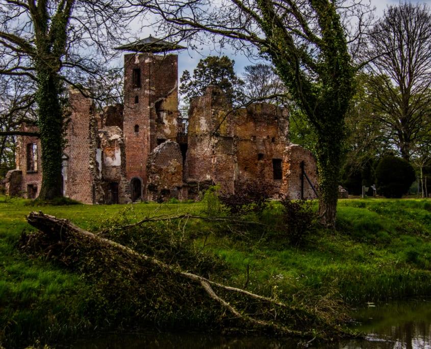 De ruïnes van Kasteel Bleijenbeek.