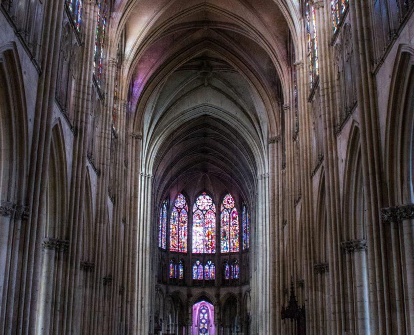 De kathedraal van Troyes. Imposant stukje gotiek.
